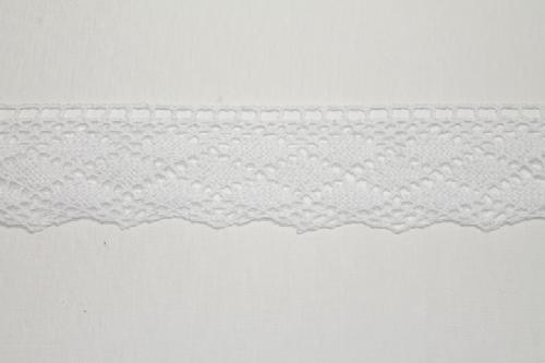 Merletto di cotone panna di mt 10, altezza 4,5 cm, in cotone