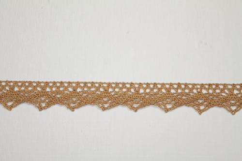 Merletto di cotone viola di mt 10, altezza 2 cm, in poliestere