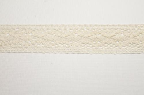 Merletto di cotone panna di mt 10, altezza 5,5 cm, in cotone