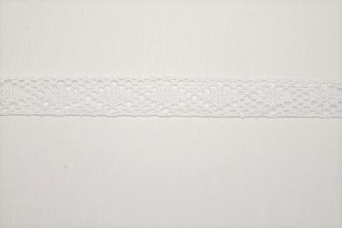 Merletto di cotone panna di mt 10, altezza 2 cm, in cotone
