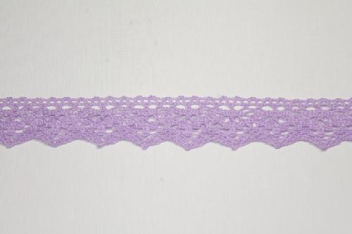 Merletto di cotone viola di mt 10, altezza 3,5 cm, in Poliestere