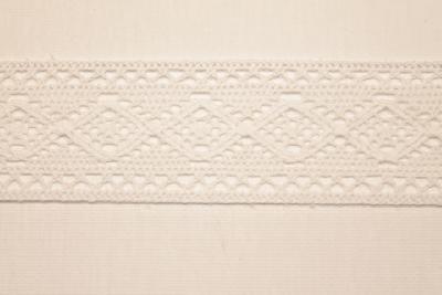 Merletto di cotone beige di mt 10, altezza 4 cm, in cotone