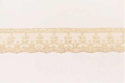 TULLE LACE IN PEARL COLOR WIDTH 6 CM - PACKAGE 19 MT
